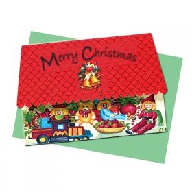 大切な方へ届けたい【口で描いた絵のクリスマスカード3種】 の商品画像