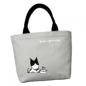 【口と足で描いた絵】 マイバッグ Buona giornataの商品画像