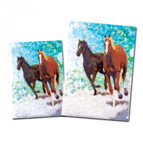 【口と足で描いた絵】躍動的で印象的な馬 2サイズのクリアファイルセット の口コミ(クチコミ)情報の商品写真