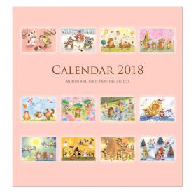 メルヘンカレンダー2018 【色鉛筆で描いた動物たちの世界】の商品画像