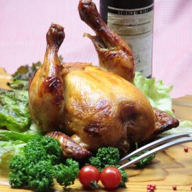 株式会社千成亭風土の取り扱い商品「国産若鶏お肉屋さんが秘伝のタレで焼いた丸焼きローストチキン 1羽」の画像