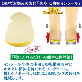 「楽歩O脚用インソール(木原産業株式会社)」の商品画像