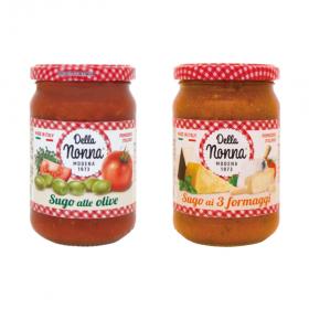 デラノンナ パスタソース トマト&オリーブ、トマトと3種のチーズの商品画像