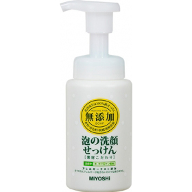 「無添加素材こだわり泡の洗顔せっけん(ミヨシ石鹸株式会社)」の商品画像