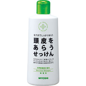 「頭皮をあらうせっけん シャンプー(ミヨシ石鹸株式会社)」の商品画像