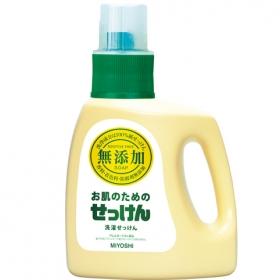 「無添加 お肌のための洗濯用液体せっけん(ミヨシ石鹸株式会社)」の商品画像