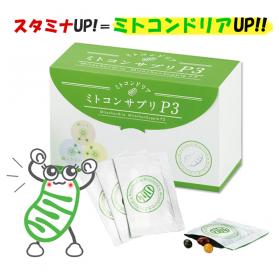 【スタミナUP!!】ミトコンサプリP3【ミトコンドリアを元気にするのが鍵】の商品画像