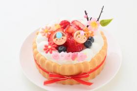 ひなまつり限定 乳幼児向け(初節句にも)ヨーグルトケーキ 5号の口コミ(クチコミ)情報の商品写真