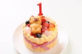 ファーストバースデーケーキ ホイップヨーグルトクリーム  5号 15cmの商品画像