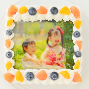 「スクエア写真ケーキ 4号 12cm(株式会社FLASHPARK)」の商品画像