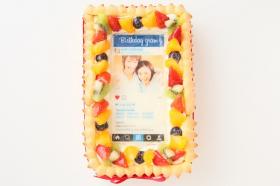 インスタグラム風フレームの写真ケーキ 23cm×15cm×6cmの商品画像