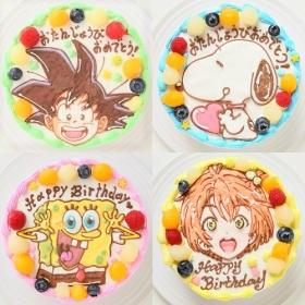 「カラーが選べるイラストケーキ キャラクター1体のみ 5号 15cm(株式会社FLASHPARK)」の商品画像