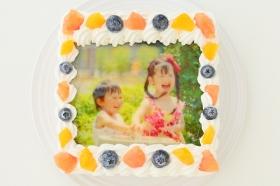 スクエア写真ケーキ 5号 15cmの商品画像