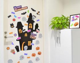 「ハロウィンデコマグネット【ホラーハウスMセット】玄関ドア用(マグネットパーク)」の商品画像の3枚目