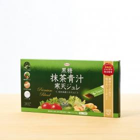 「黒糖抹茶青汁寒天ジュレ(興和株式会社)」の商品画像の1枚目