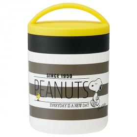 スヌーピー(PEANUTS) 黄×ボーダー 保温 保冷 スープジャー 取っ手付きの商品画像
