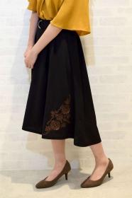 ベルト付刺繍フィッシュテールスカートの商品画像