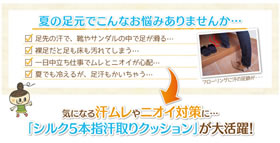 シルク5本指汗取りクッションの商品画像