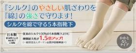 「シルクを綿で守る5本指靴下(株式会社山忠)」の商品画像の2枚目