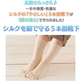 「シルクを綿で守る5本指靴下(株式会社山忠)」の商品画像