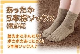 「あったか5本指ソックス(裏起毛)(株式会社山忠)」の商品画像