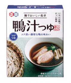 「<麺でおいしい食卓シリーズ>鴨汁つゆ(正田醤油株式会社)」の商品画像