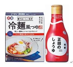 <麺でおいしい食卓シリーズ>冷麺風つゆ&正田のしょうゆ200mlの商品画像