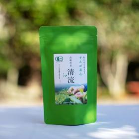 ふるさと21株式会社の取り扱い商品「有機JAS無農薬の静岡茶『清流〜高級煎茶〜』(静岡県 するが有機農場協同組合)」の画像