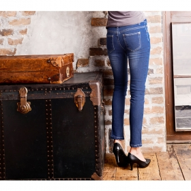 「【XXS~4Lサイズ】《1kg痩せ見え》本格デニムフィット美脚デニムパンツ(Re:EDIT(リエディ) トレンドレディースファッション通販)」の商品画像の4枚目