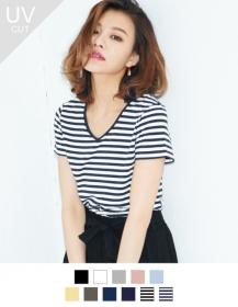 「【着る日焼け止め】ベーシックなデザインの半袖Tシャツ(Re:EDIT(リエディ) トレンドレディースファッション通販)」の商品画像の2枚目