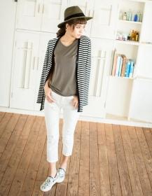 「【着る日焼け止め】ベーシックなデザインの半袖Tシャツ(Re:EDIT(リエディ) トレンドレディースファッション通販)」の商品画像の4枚目