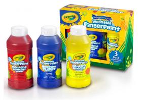 【ママも安心!】クレヨラの水でおとせるフィンガーペイント 3色セットの商品画像
