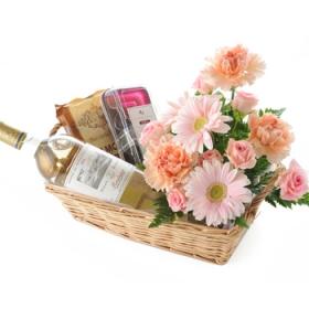 「【母の日の贈りもの】ワイン&フラワーアレンジメント(株式会社アンデルセン)」の商品画像