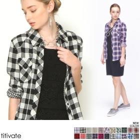 【titivate】セレカジ風ガーゼシャツの商品画像