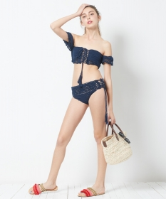 「【SEA DRESS】オフショルダークロシェビキニ(株式会社ALEFS(titivate))」の商品画像