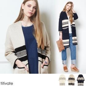 【titivate】ロングカーディガンの商品画像