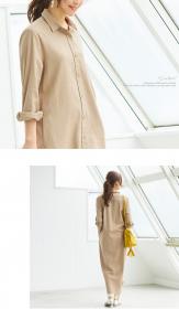 「【UR'S】リネン混ロングシャツワンピース(株式会社ALEFS(titivate))」の商品画像