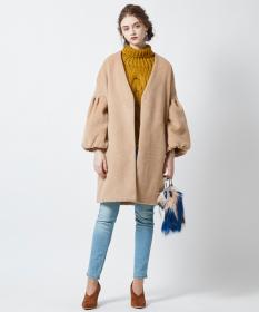 【titivate】シャギーボリューム袖コートの商品画像