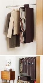 「バッグの出し入れラクラク&一覧性UP!吊り下げ式鞄収納棚*バッグホルダー(収納の巣(株式会社テンネット))」の商品画像