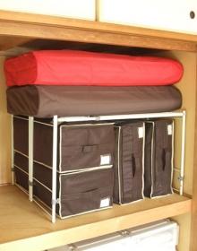 おまとめ買い 押入れの収納効率UP!*縦横伸縮整理棚 2台セット