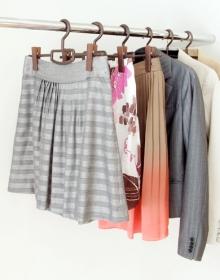 「スカートもパンツも掛けられるハンガー*クリップバー(収納の巣(株式会社テンネット))」の商品画像