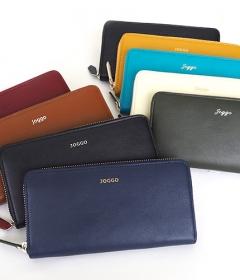 オーダーメイドの本革メンズラウンドファスナー財布 (名入れ無料)| JOGGO の商品画像