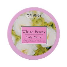 「ボディバター ホワイトピオニー(196g)【デロン(DELON)】(株式会社ベジトリー)」の商品画像