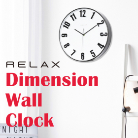 「Dimension WALL CLOCK/ディメンション ウォールクロック(株式会社シンシア)」の商品画像