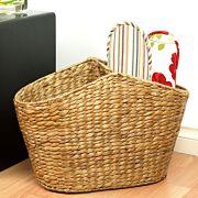 【アジアン雑貨】ウォーターヒヤシンス スリッパ用バスケットの商品画像