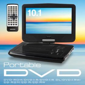 「大画面10.1型ワイド液晶搭載ポータブルDVDプレーヤー(株式会社グリーンハウス)」の商品画像