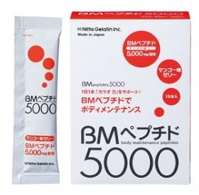 「進化したコラーゲンゼリー【BMペプチド5000(マンゴー味】1箱20g×15本(株式会社ニッタバイオラボ)」の商品画像