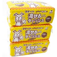 「マナーくん 流せるティッシュ ほのかな香り付き 250枚(株式会社コジマ)」の商品画像