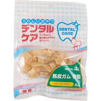「うれしいおやつ デンタルケア 馬皮ガム 骨型 6本入(株式会社コジマ)」の商品画像