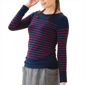 JOTO.あったかボーダーシャツの商品画像